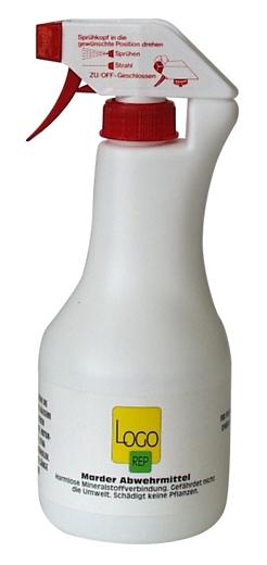 marderabwehr spray logo rep 500 ml optimal f r das auto. Black Bedroom Furniture Sets. Home Design Ideas